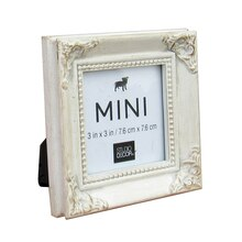Mini White Leaf Frame with Corner Accents by Studio Decor
