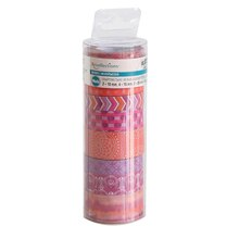 Boho Pink & Orange Washi Crafting Tape Tube by Recollections