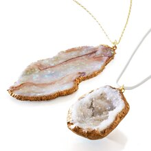 Geode Rock Necklace, medium