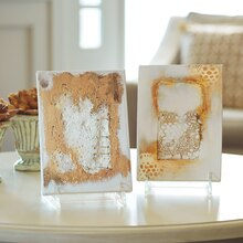 Plaster Canvas Decorative Wall Art Set, medium