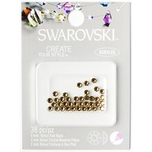 Swarovski Create Your Style Flat Back Crystals, 3mm, Light Colorado Topaz Pack