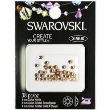 Swarovski Create Your Style Hotfix Crystals, 3mm Light Colorado Topaz Pack