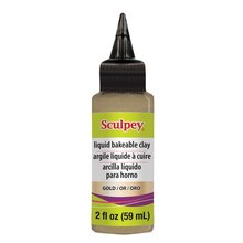 Sculpey Liquid Bakeable Clay, Gold