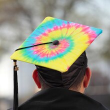 Spiral Tie-Dye Graduation Cap, medium