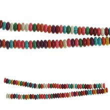 Bead Gallery Reconstituted Turquoise Rondelle Beads, Multicolor