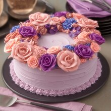 Flower Statement Ring Cake, medium