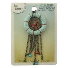 Gypsy Desert Dreamcatcher Pendant by Bead Landing