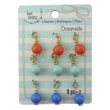 Oceanside Multicolor Drop Charms by Bead Landing