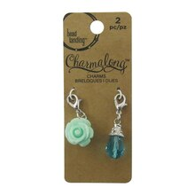 Charmalong Blue Rose & Drop Charms by Bead Landing