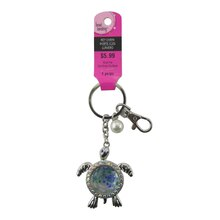 Silver Jeweled Turtle Key Chain by Bead Landing