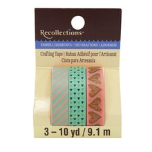 Pink & Mint Print Washi Tape by Recollections