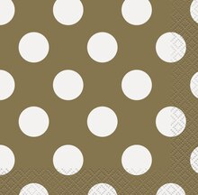 Gold Polka Dot Beverage Napkins, 16ct