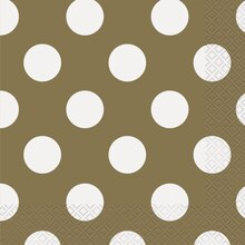 Gold Polka Dot Luncheon Napkins, 16ct