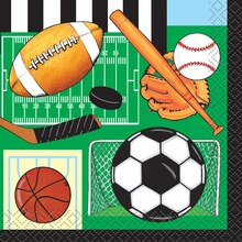 Classic Sports Beverage Napkins, 16ct