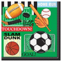 Classic Sports Luncheon Napkins, 16ct