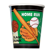 9oz Classic Sports Paper Cups, 8ct