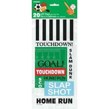 Classic Sports Cellophane Bags, 20ct