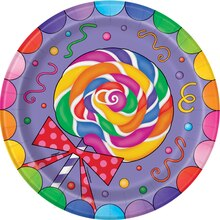 "9"" Candy Party Plates, 8ct"