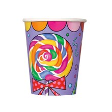 9oz Candy Party Paper Cups, 8ct