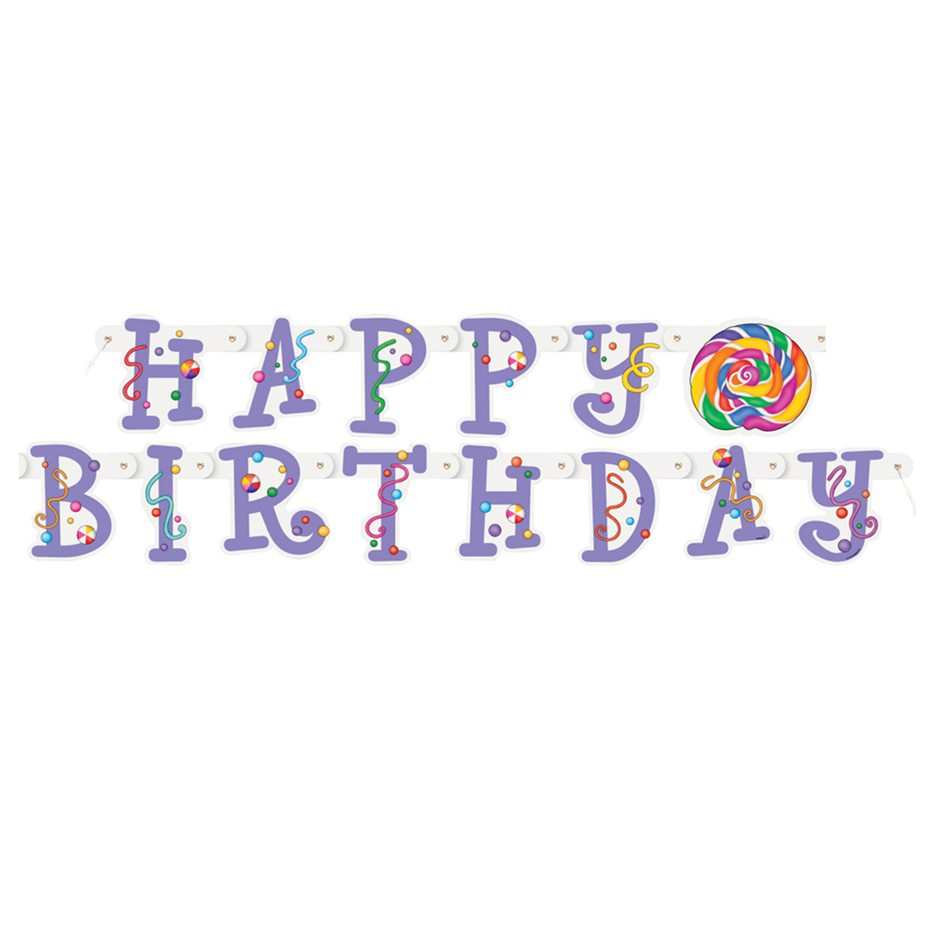 Candy Party Happy Birthday Banner Candy Themed Party Decorations