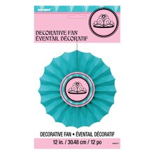 "Fairytale Princess Tissue Paper Fan Decoration, 12"", Packaging"
