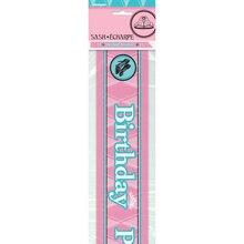 Satin Fairytale Princess Birthday Sash, Packaging