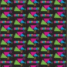 Neon Birthday Wrapping Paper