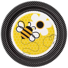 7 Bumble Bee Party Plates 8ct