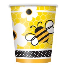9oz Bumble Bee Paper Cups, 8ct