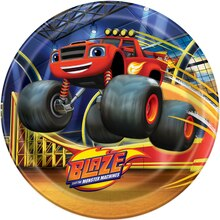 "9"" Blaze and the Monster Machines Party Plates, 8ct"