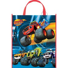 "Large Plastic Blaze and the Monster Machines Favor Bag, 13"" x 11"""