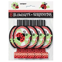 Ladybug Party Blowers, 8ct