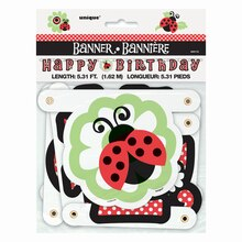 Ladybug Happy Birthday Banner, Packaging
