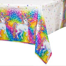 "Plastic Rainbow Majesty® By Lisa Frank Tablecloth, 84"" x 54"""