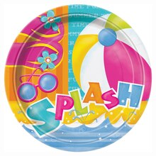 "9"" Pool Party Plates, 8ct"
