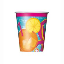 9oz Pool Party Paper Cups, 8ct