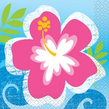 Hula Girl Luau Party Beverage Napkins, 16ct