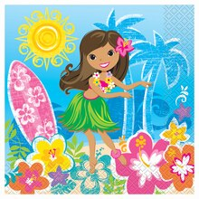 Hula Girl Luau Party Luncheon Napkins, 16ct