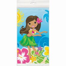 "Plastic Hula Girl Luau Party Tablecloth, 84"" x 54"", medium"