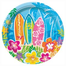 "7"" Hula Girl Luau Party Plates, 8ct"
