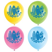 "12"" Latex Hula Girl Luau Party Balloons, 8ct"