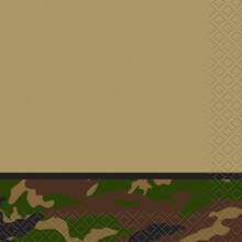 Military Camouflage Beverage Napkins, 16ct