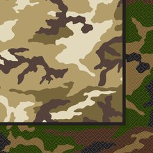 Military Camouflage Luncheon Napkins, 16ct