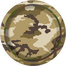 """7"""" Military Camouflage Party Plates, 8ct"""