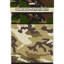 Military Camouflage Goodie Bags, 8ct