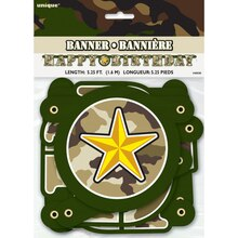 Military Camouflage Happy Birthday Banner, 5Ft., Packaging