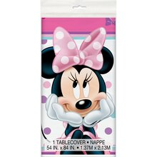 "Plastic Minnie Mouse Tablecloth, 84"" x 54"""