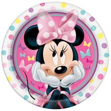 "9"" Minnie Mouse Party Plates, 8ct"