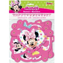 Minnie Mouse Birthday Banner, 6.25 Ft., Packaging