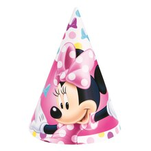 Minnie Mouse Party Hats, 8ct